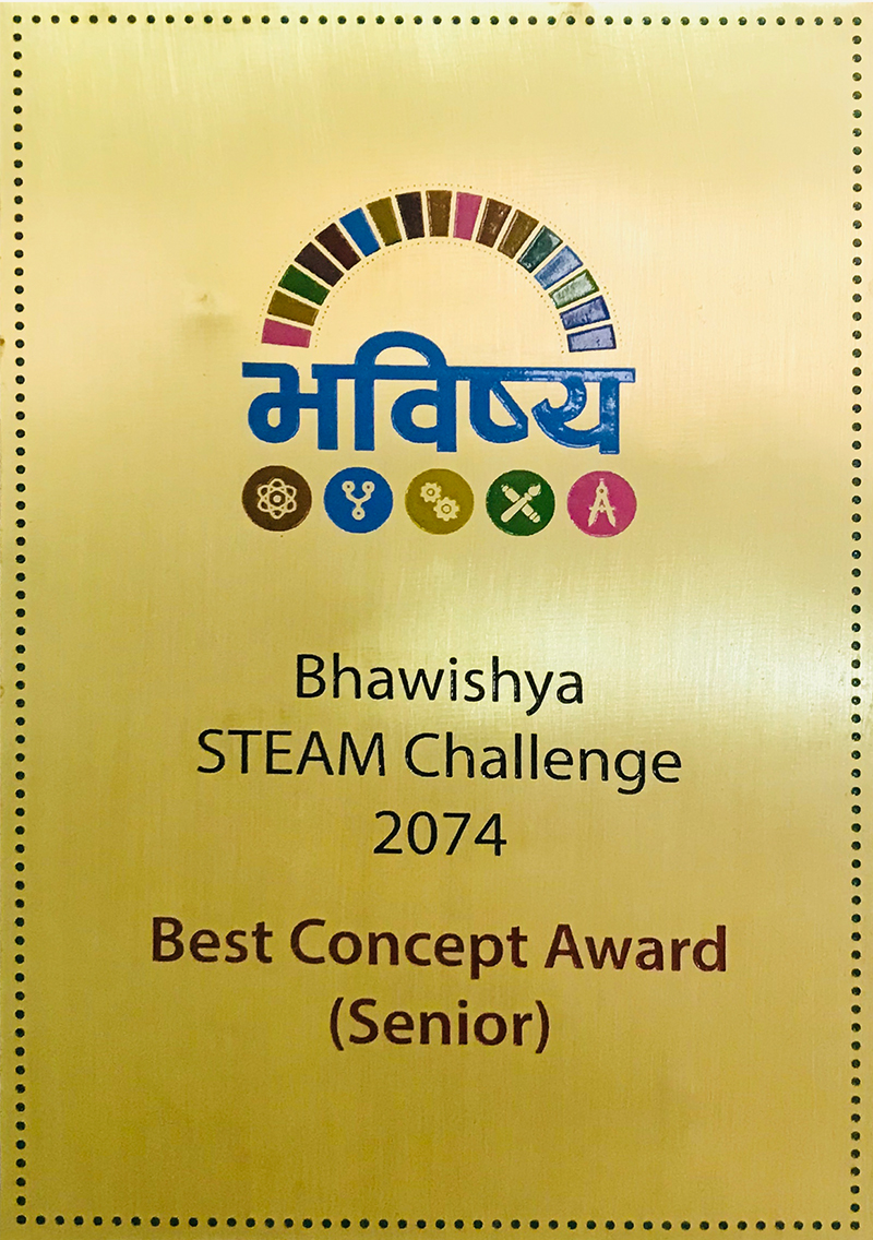 Bhawishya STEAM Challenge 2074 - Best Concept Award
