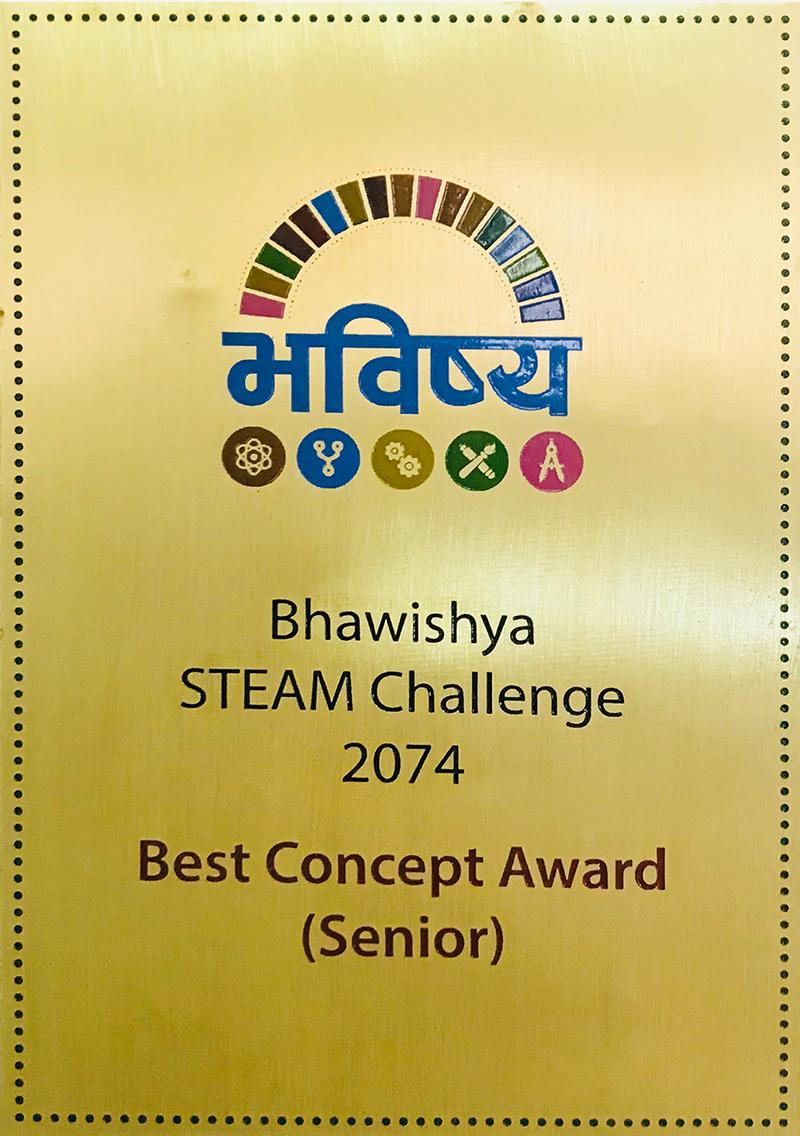 Bhawishya STEAM Challenge 2074 - Best Concept Award
